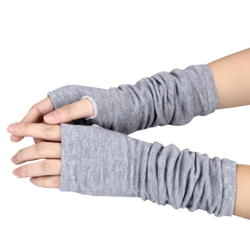 Practical Design Winter Wrist Arm Hand Warmer Knitted Long Fingerless Gloves Mitten For Women Free Shipping & Wholesale