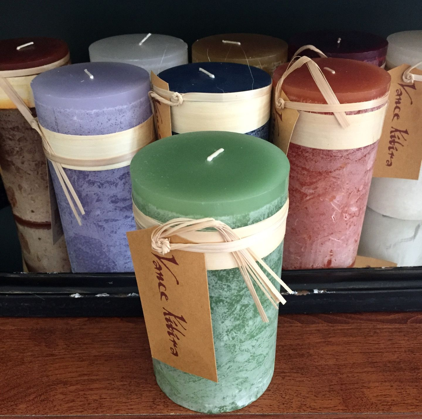 "Timber Candle: 6"" Pillar-Aloe"