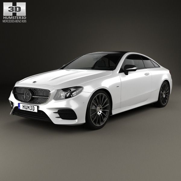 3D Model Of Mercedes-Benz E-Class (C238) Coupe AMG Line