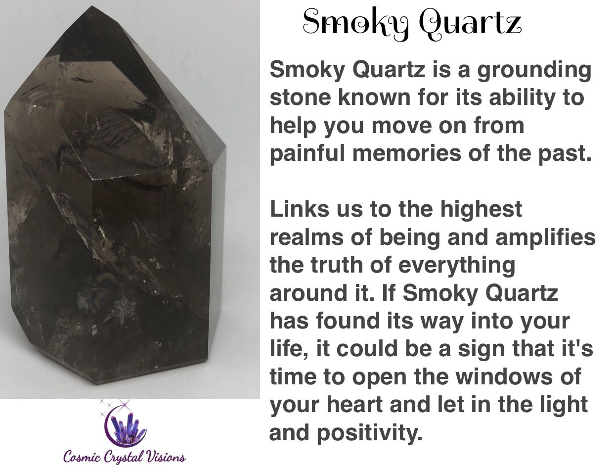 Pin by Loraina Vaughn on Crystals   Smoky quartz crystal ... Quartz Crystal Spiritual Meaning