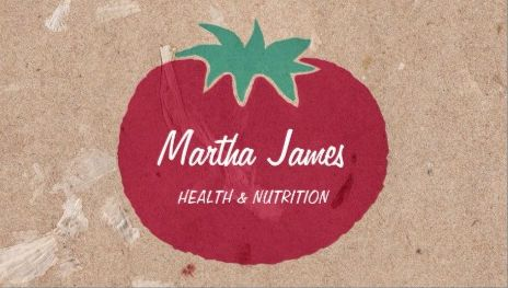 Country style organic craft paper tomato nutrition and health a collection of chic and modern health and nutrition business cards personalized for the certified nutrionist holistic medicine and wellness consultant reheart Image collections