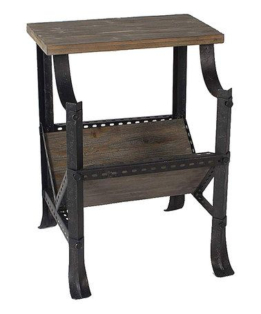Take A Look At This Gray Wood Magazine Rack/End Table By JLA Home On