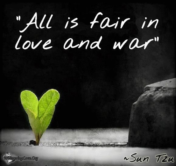 All is fair in love and war | Popular Love quotes | Fav