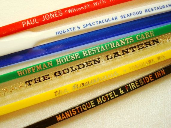 Swizzle stick grab bag 20 40 or 60 vintage by SunnyDayVintage