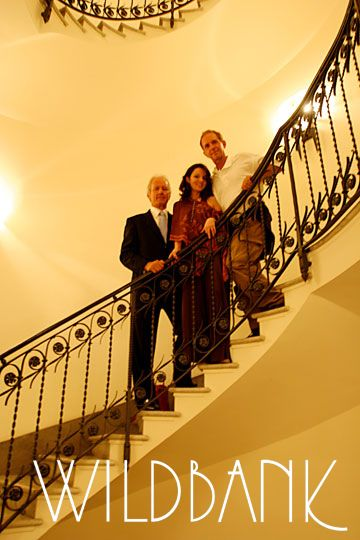 Wildbank and Mary with hotelier Roberto Wirth at Hassler Hotel, Roma 2006