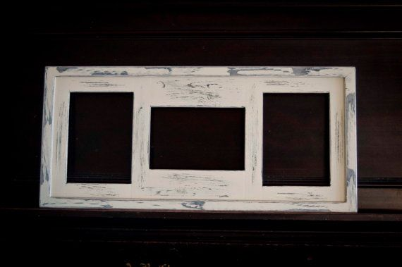 MULTI 3 Opening 5x7 distressed collage picture frame with 2) 5x7\'s ...