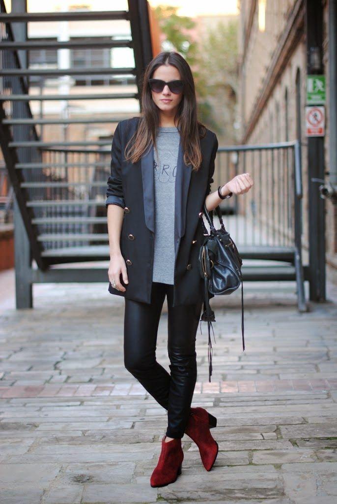 Conjuntos U Outfits Con Botines Look Con Botines Outfits