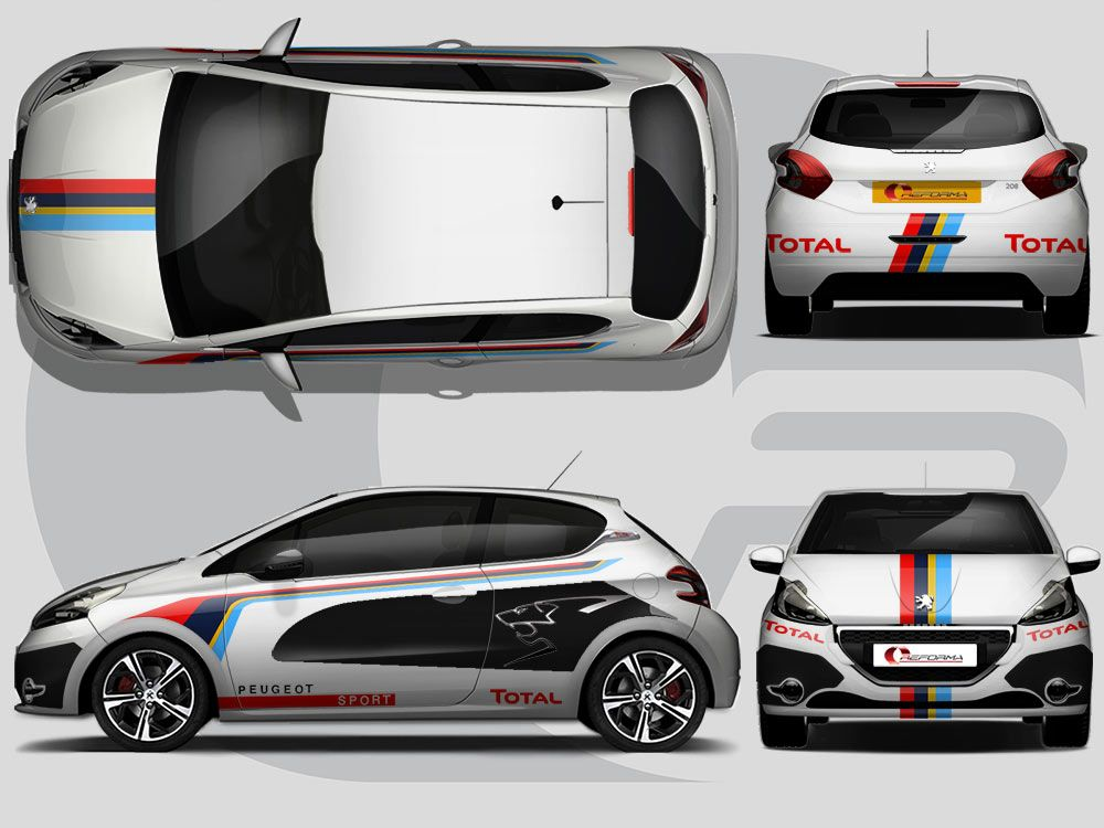 This full wrap takes inspiration from the peugeot race cars with this full wrap takes inspiration from the peugeot race cars with an added reforma touch malvernweather Choice Image