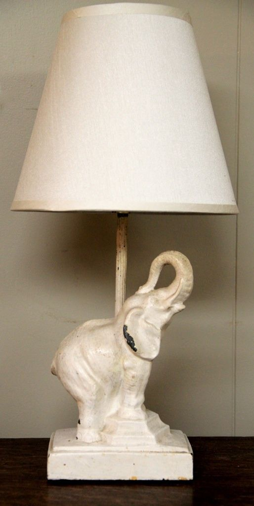 Vintage Cast Iron Elephant Table Lamp (SOLD)