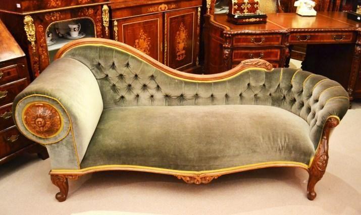 Antique Victorian French Walnut Chaise Longue C 1860 Huis Ideeen Art Deco Deco