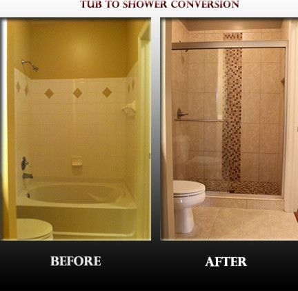 Tub To Shower Conversion Spaces Contemporary With Convert