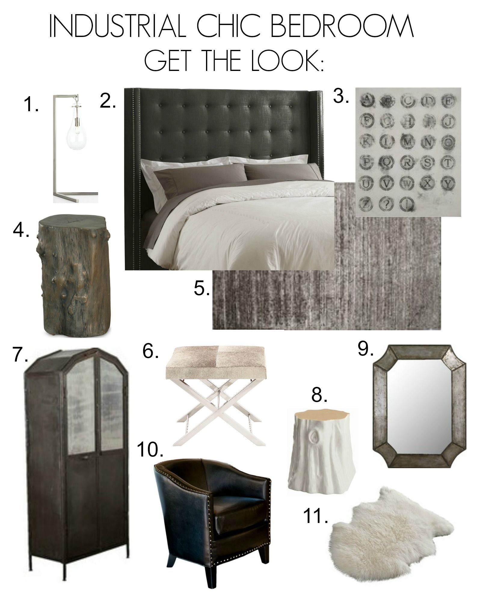 Beau Industrial Chic Bedroom Inspiration Board