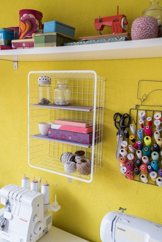 Anleitung für ein selbst gemachtes DIY Ikea hack Regal aus einem Metallkorb