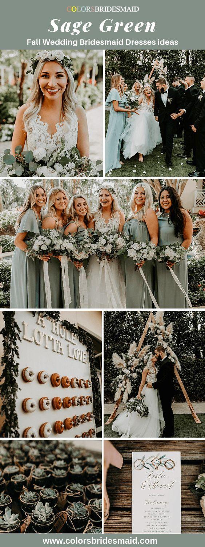 18 sage green bridesmaid dresses fall ideas