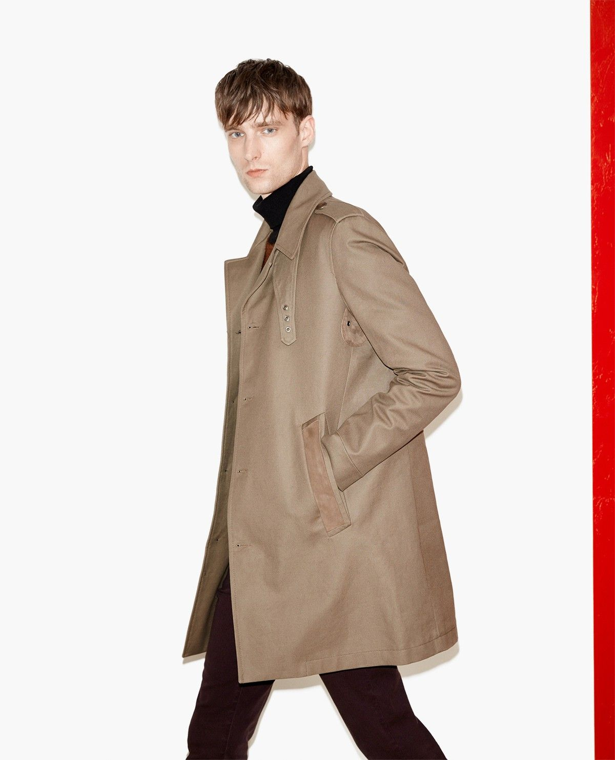 Trench A Empiecements Daim Homme Nouvelle Collection The Kooples Raincoat Coat Jackets