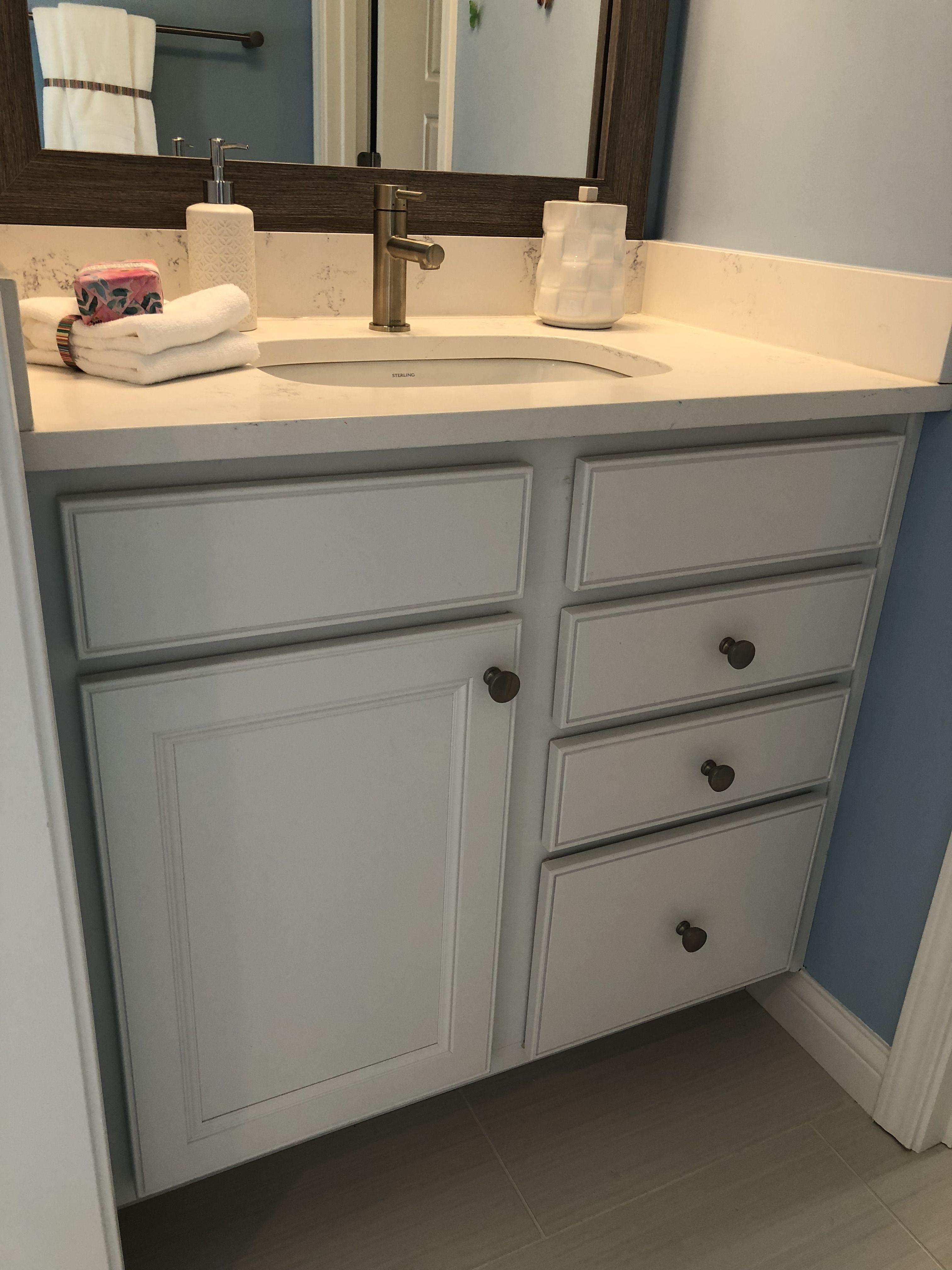 Landen Painted White Bath Vanity