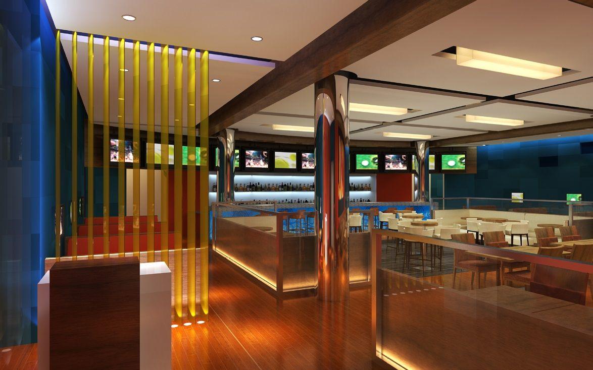 Sports Bar Restaurant lounge, Hotel management, Indoor pool