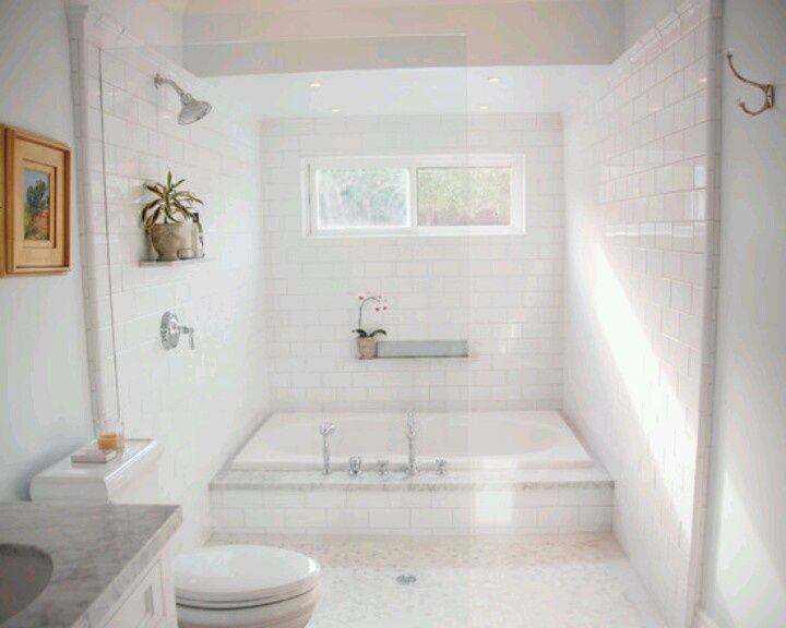 White Bathroom | Bathroom | Pinterest | Large bathtubs, Bathtub ...