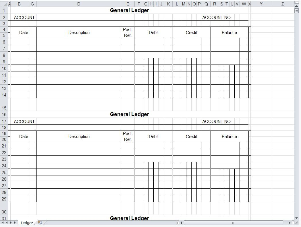 A General Ledger Is A Set Of Accounts That Is Used To Keep