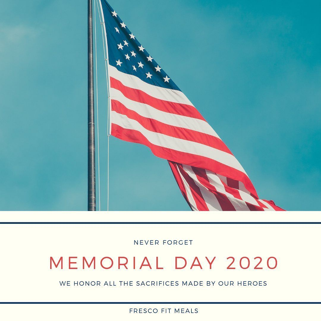 Today, The Fresco Fit Meals Team remembers our Heroes who have given the ultimate sacrifice. Always remembered, forever grateful.  Thank you. 📧 info@frescofitmeals.com — — — — — — — — — — — — #mealdelivery #miamiliving #mealservice #miami #pinecrest #southmiami #coralgables #westchester #southflorida #macrofriendly #healthymeals #summerscoming #miamidade #frescofitmeals #cleaneating #freshflavors #health #mealplan #deliveryservice #lifestyle #lowcal #maintenance #lean #miamifitness #fuel #clean
