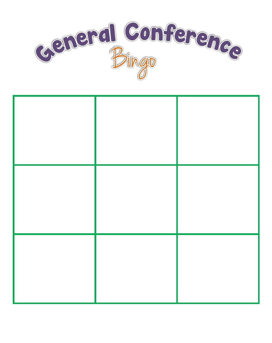 General Conference Bingo For The Kids The Red Headed Hostess General Conference Bingo Card Generator General Conference Activities