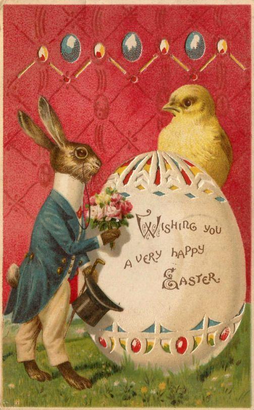 Vintage Easter Card Happy