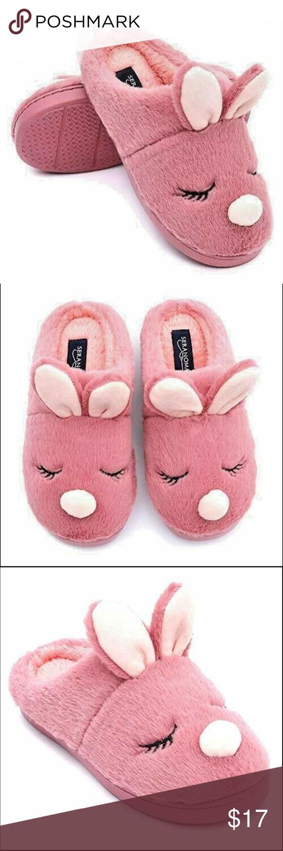Cute Seranoma Women S Coral Fleece Bunny Slippers Slippers Bunny Slippers Slippers Cozy