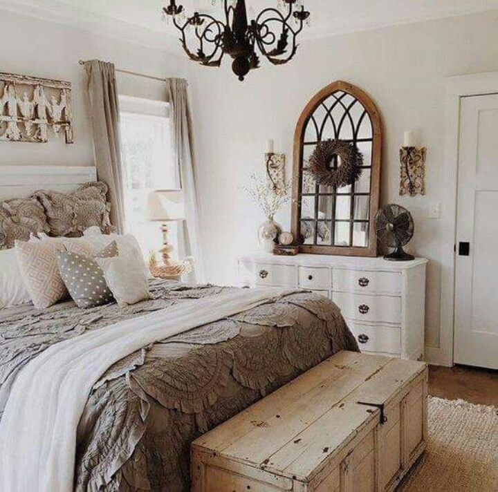 Chest At Foot Of Bed Farmhouse Style Master Bedroom Farmhouse