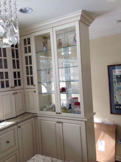 The Double Sided Glass Cabinet Divider Design Dining