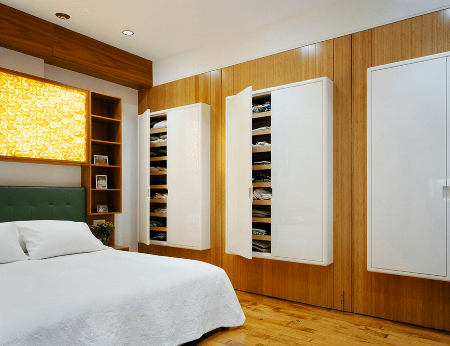Wall Mounted Closets On Wood If Your E Lacks A Closet Build Own Clothing Storage