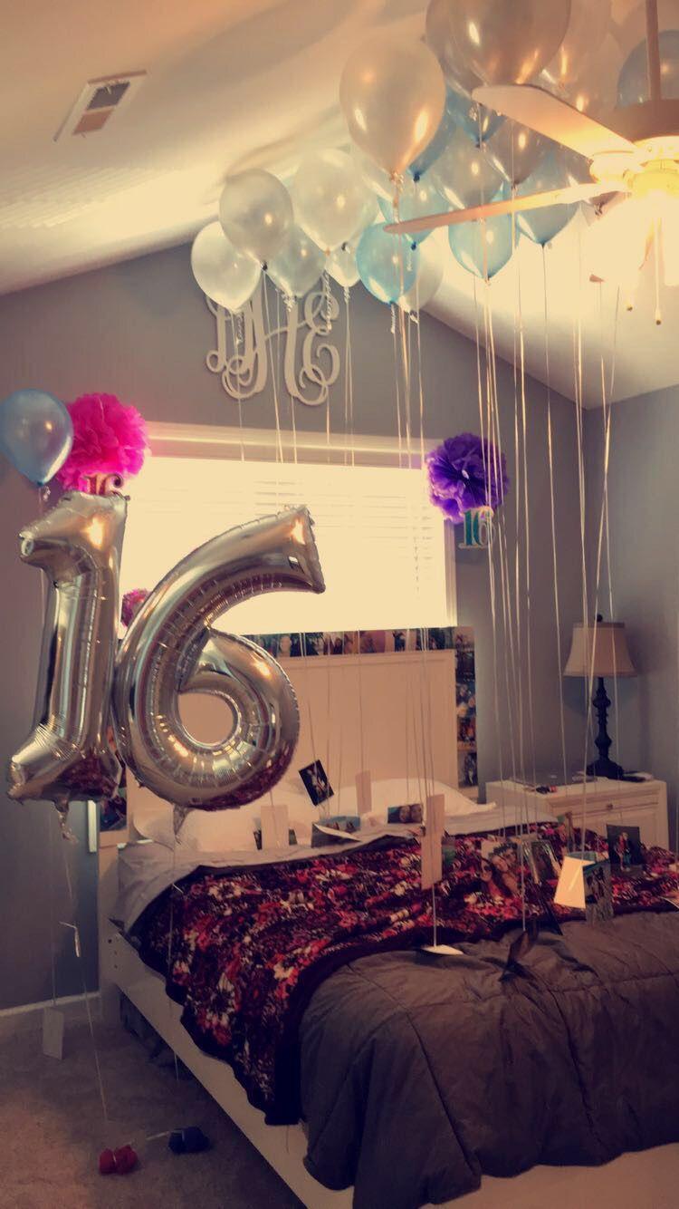 16th birthday surprise idea more ideas de regalo for Cuarto adornado para cumpleanos