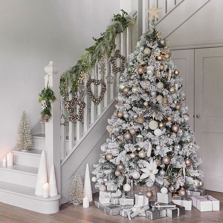 21 White Winter Wonderland Christmas Tree Decor Ideas That Trending White Christmas Trees Luxury Christmas Decor Christmas Tree Themes