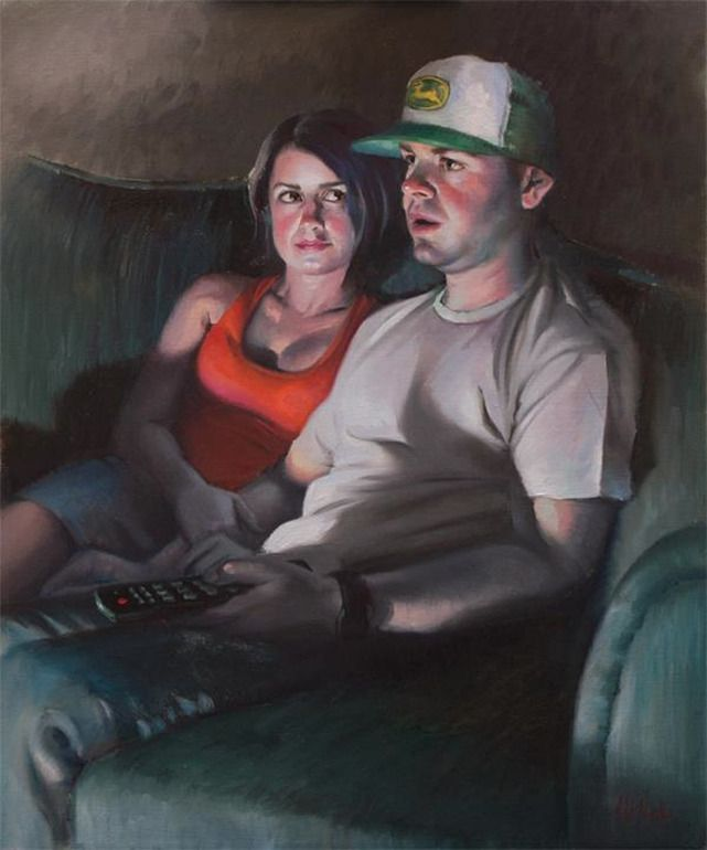 "Saatchi Online Artist: melanie florio; Oil, 2011, Painting ""John, Dear"""