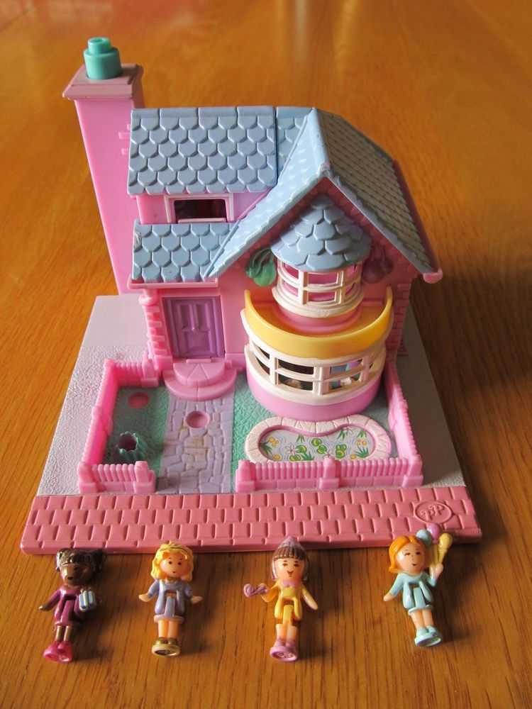 no Figures X 3 Square Shaped Vintage 1989 Polly Pocket Cases Collectable Discounts Price