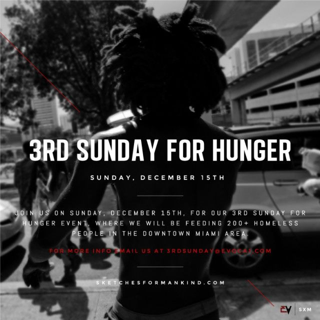 Beautiful people!! 3rd Sunday For Hunger. Sketches for Mankind #wynwood #3rdsundayforhunger #wynwoodmiami