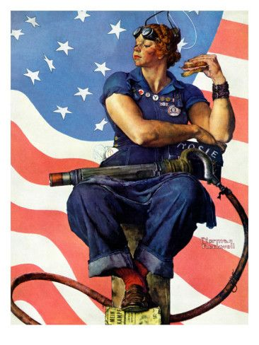 Norman Rockwell's version of Rosie... My Favorite.. very rich...proud... so much Grace
