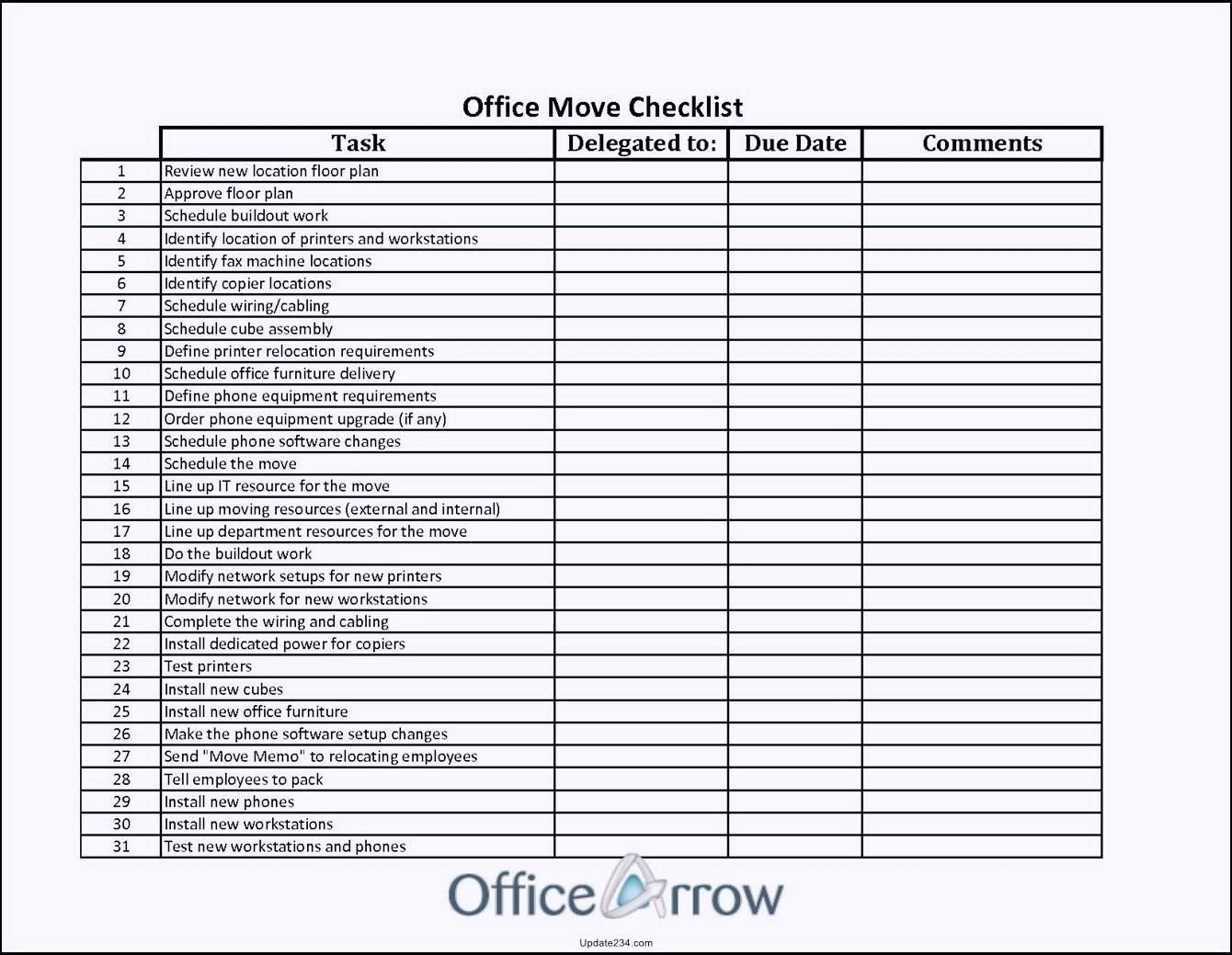 Management Plans Office Relocation Project Plan Example