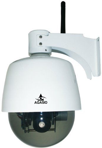 Agasio A621W Outdoor Wireless Pan/Tilt/Zoom IP Camera with