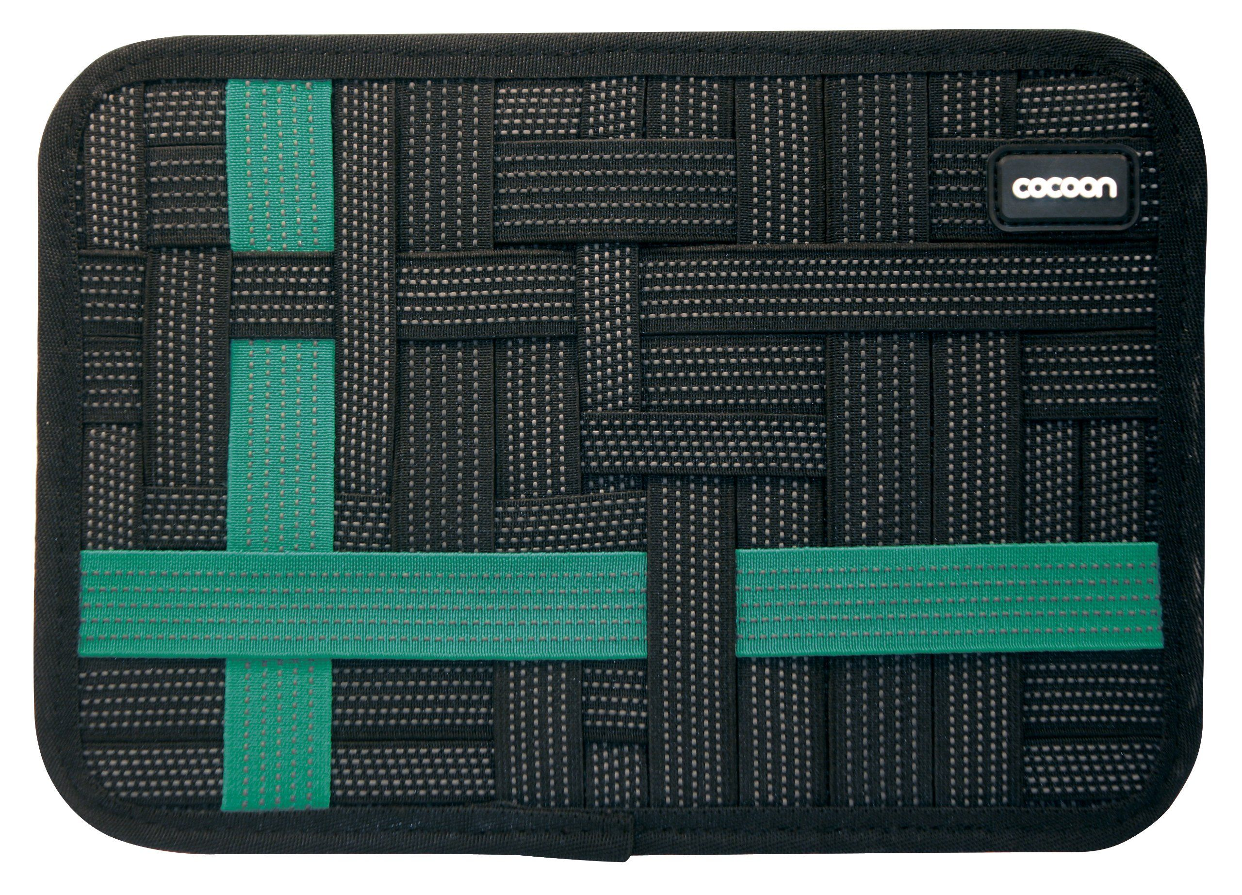 """Cocoon CPG41BKT Grid-It Pocket Organizer, für iPad mini & 7"""" Tablets, Schwarz / Türkis"""