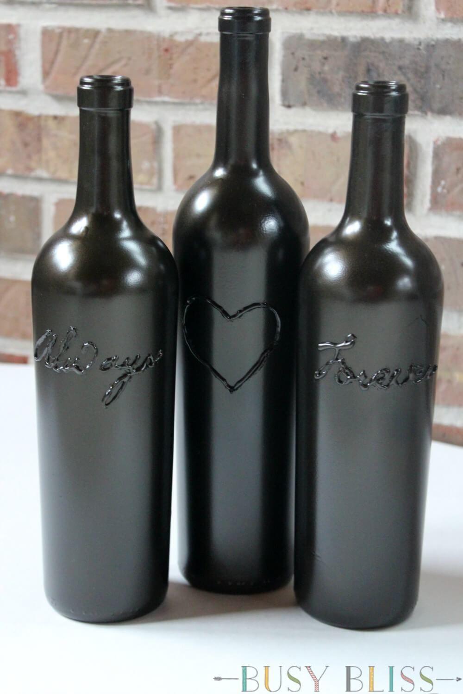 The Simple Way to Make Decorative Wine Bottles | Hometalk: Spring