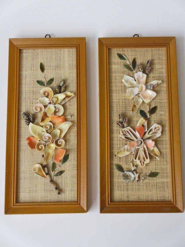 Seashell Craft Wall Hanging Decoration Ideas Art And Crafts Wall