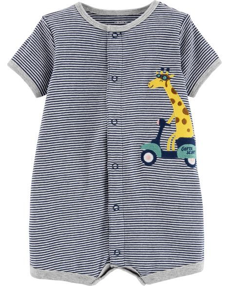 b07520393 Giraffe Snap-Up Romper | Products | Carters baby boys, Carters baby ...
