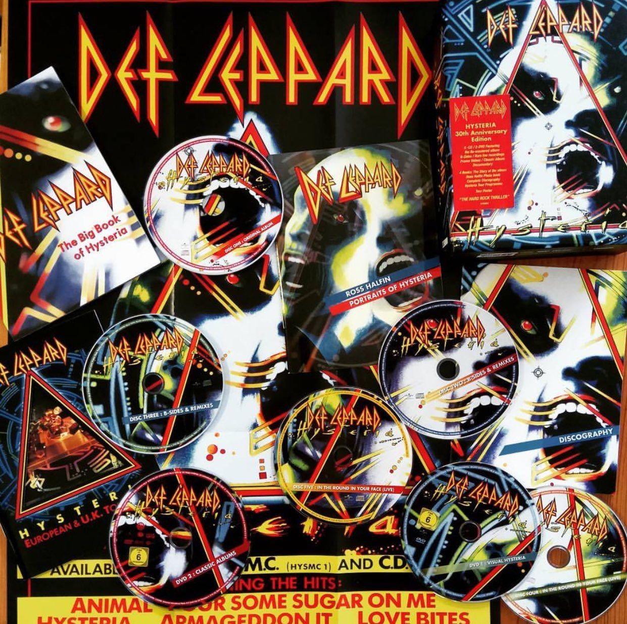 Hysteria Def Leppard Art Rock And Roll Fantasy Def Leppard