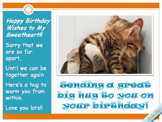 Birthday Ecard For Your Sweetheart 123greetings Profile Bebestarr LongDistance Cats SavvySocialCrew