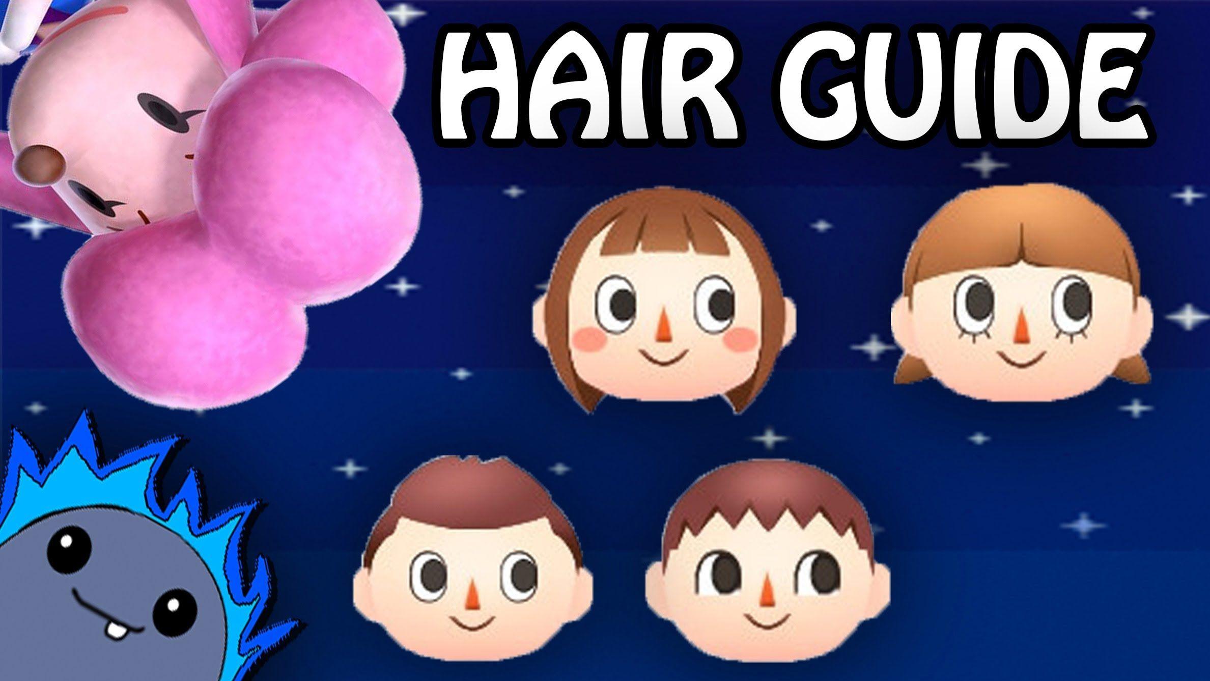 HAIR GUIDE Animal Crossing New Leaf Animal crossing
