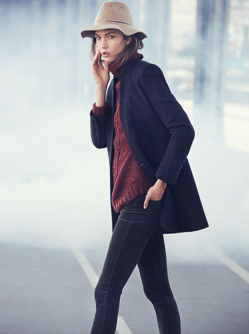 Karlie Kloss Stars in Mangos Winter 2012 Catalogue