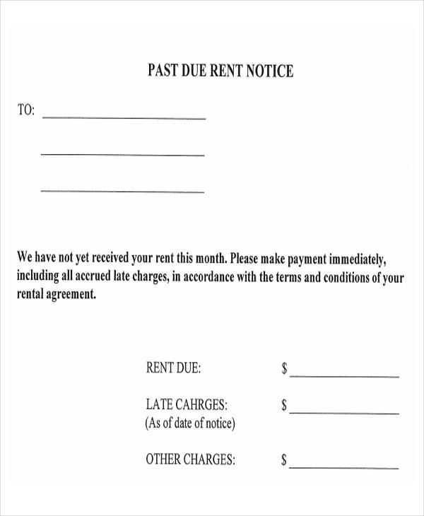 11 Late Payment Letter Templates Late Rent Notice