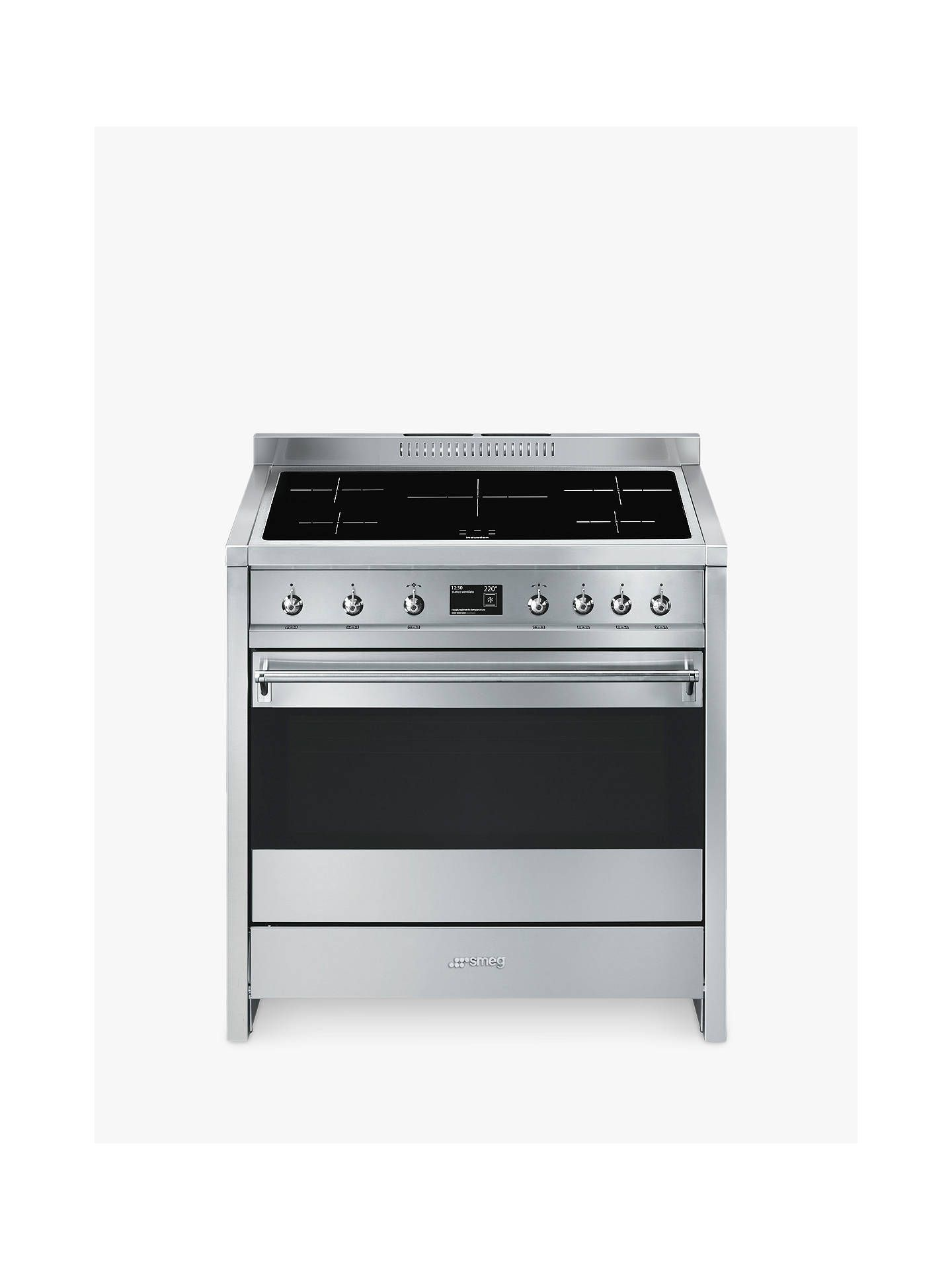 Smeg A1pyid 9 90cm Single Electric Cooker A Energy Rating Stainless Steel Online At Johnlewis