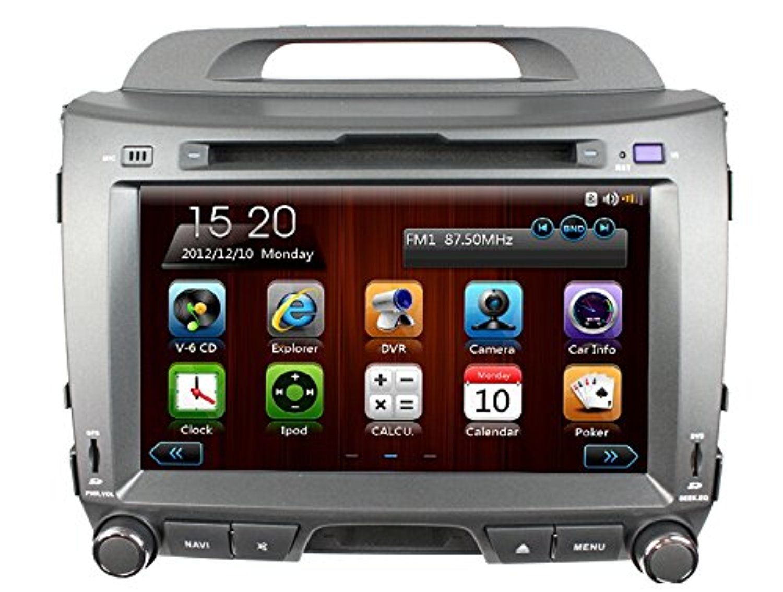 Znystar 8 double din car stereo with dvd gps navigation radio for kia sportage r 2010 2011 2012 2013 2014 2015 with 3g wifi bluetooth usb sd fm am radio