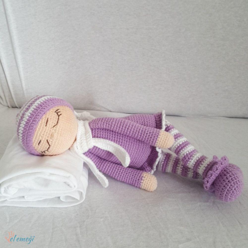 Amigurumi Uykucu Amour Bebek Ayıcık | Uyku Arkadaşı Ayıcık | AB111 | 1000x1000